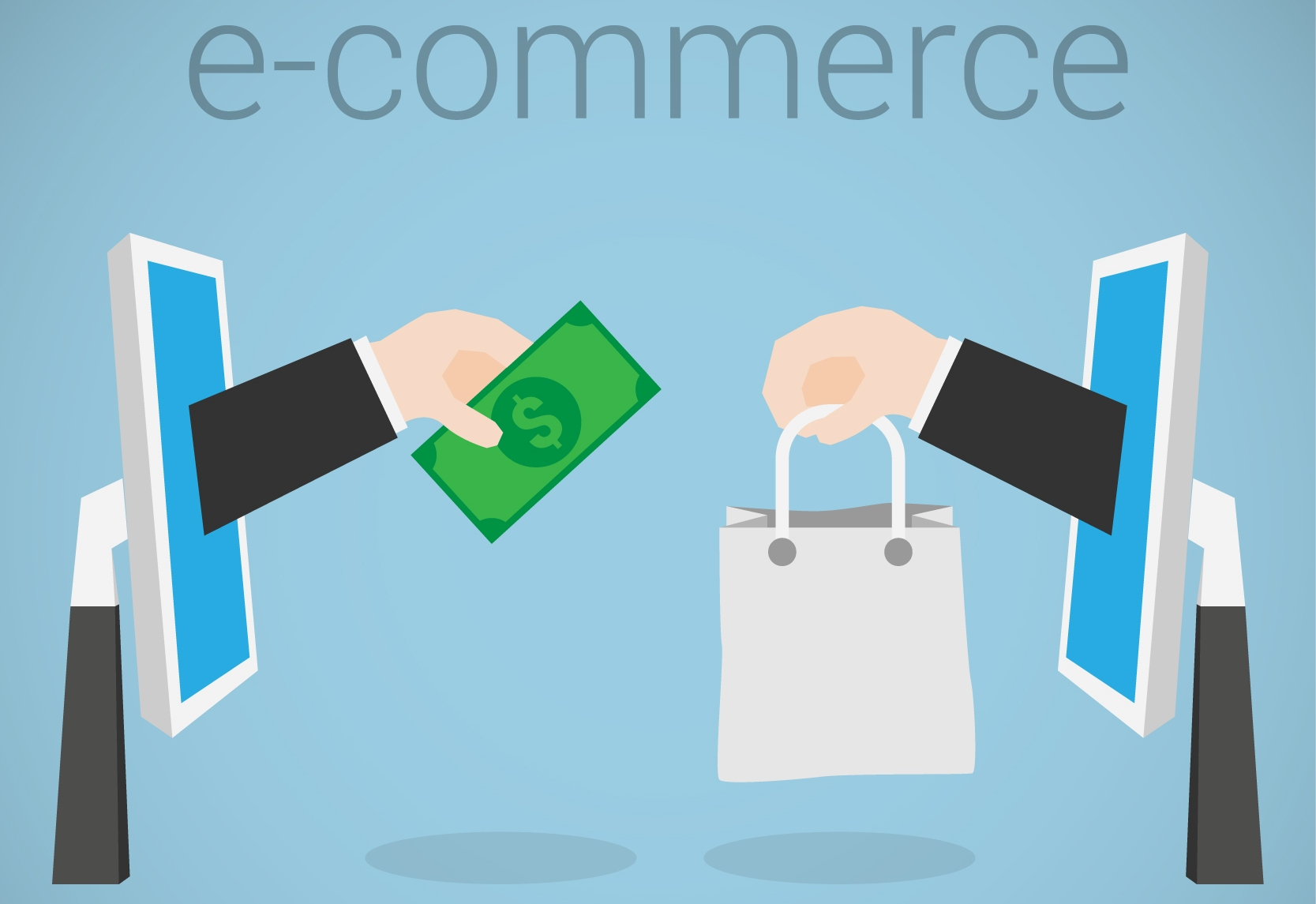 e commerce solutions for online business E-commerce refers to online stores selling products while e-business refers to any and all business solutions that use cloud or internet-based systems to run things.