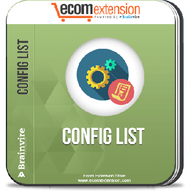 Magento Config List Extension
