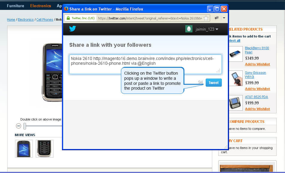 Magento Twitter Connect Extension For Create Latest Tweets